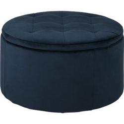 Reece Fusshocker + Aufbewahrung blau Hocker Schemel Polsterhocker Wohnzimmer