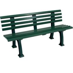 gartenmoebel-einkauf Bank SYLT 3-sitzer, Kunststoff grün