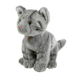 Teddys Rothenburg Kuscheltier Katze grau getigert 22 cm sitzend (Plüschtiere, Stofftiere, Katze, Stoffkatze, Plüschkatze)
