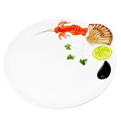 Lashuma Servierteller Meeresfrüchte, Keramik, Servierplatte rund, Keramikteller Ø 25 cm