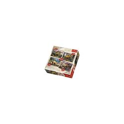 Trefl Puzzle 4in1 Puzzle 35/48/54/70 Teile - Die Dinosaurier, Puzzleteile