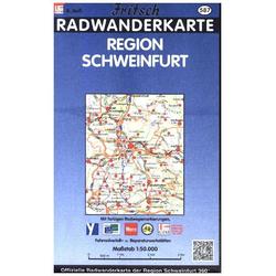 Radkarte Region Schweinfurt 1 : 50 000