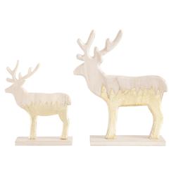 CHRISTMAS GOODS by Inge Tierfigur Rentier beige Tierfiguren Figuren Skulpturen Wohnaccessoires