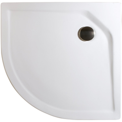 Schulte Rundduschwanne Extraflach, rund, Sanitäracryl, BxT: 90 x 90 cm