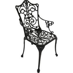 DEGAMO Sessel Jugendstil, Aluguss grau antik
