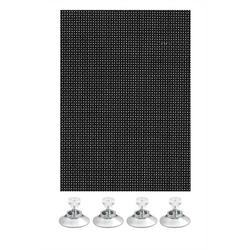 Klemmträger Flexibler Sonnenschutz schwarz 100 x 200, GARDINIA
