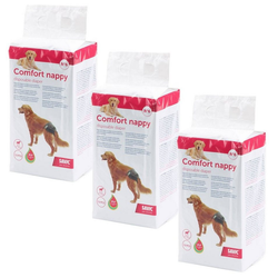 Savic Hundewindel 36er Sparpack Hundewindel Einwegwindel, für Hunde Comfort Nappy Größe 6 (Taillenumfang: 46-56 cm)