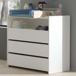 Wickeltisch in Weiß 90 cm breit