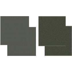 DDDDD Geschirrtuch Cisis, (Set, 4-tlg), Combiset: 2 Küchentücher & 2 Geschirrtücher grün