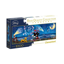 Clementoni® Puzzle Panorama Puzzle 1000 Teile - Micky & Minnie, Puzzleteile