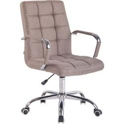 CLP Bürostuhl DELI mit Stoffbezug und hochwertiger Polsterung I Drehstuhl mit höhenverstellbarer Sitzhöhe... taupe