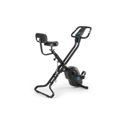 Capital Sports Fahrradtrainer Azura X2 X-Bike bis 120 kg Pulsmesser klappbar schwarz schwarz