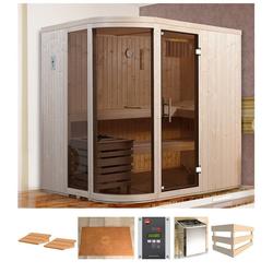 weka Sauna Sara 1, BxTxH: 194 x 194 x 199 cm, 68 mm, 7,5 kW Ofen mit ext. Steuerung