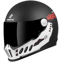 Bogotto SH-800 Masked Helm, schwarz-weiss, Größe S