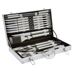 LANDMANN Grillbesteck-Set 13376, 24-Teilig, (24 tlg), Grillbesteck im Koffer, BBQ Multifunktions-Zubehör