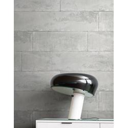 Newroom Vliestapete, Grau Tapete Modern Stein - Beton Schwarz Steintapete Steinoptik Backstein Industrial Bauhaus für Wohnzimmer Schlafzimmer Küche grau