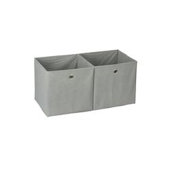 relaxdays Aufbewahrungsbox Aufbewahrungsbox Stoff im 2er Set grau