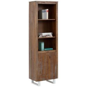 Home affaire Bücherregal Lagos, aus schönem massivem Kiefernholz, grifflos, Breite 55 cm