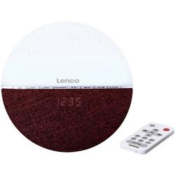 Lenco CRW-4BG Radiowecker UKW Bluetooth® Stimmungslicht Rot