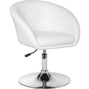 AMSTYLE Loungesessel SPM2.158, Kunstleder, höhenverstellbar, drehbar, weiß