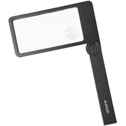 GENIE Lesehilfe ML105, Leselupe, Lupe, rechteckig, klappbarem Griff & LED Beleuchtung, Handlupe, Vergrößerungsglas, schwarz