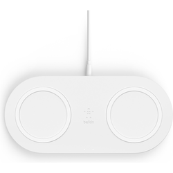 Belkin Dual Wireless Charging Pad mit Netzteil (10W), Wireless Charger, Weiss