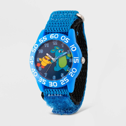Kids' Disney Toy Story 4 Bunny Ducky Time Teacher Hook and Loop Strap Watch - Blue