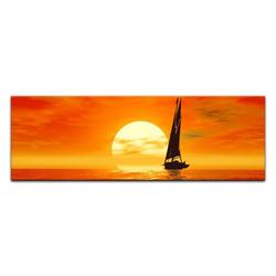 Bilderdepot24 Leinwandbild, Leinwandbild - Segelboot 90 cm x 30 cm