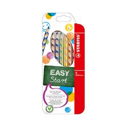 Dreikant-Buntstift STABILO EASYcolors, 6er Etui, Linkshänder