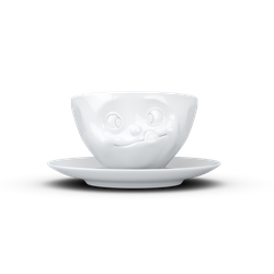 fiftyeight Kaffeetasse Lecker weiß