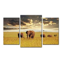 Bilderdepot24 Leinwandbild, Leinwandbild - Elefanten 100 cm x 60 cm