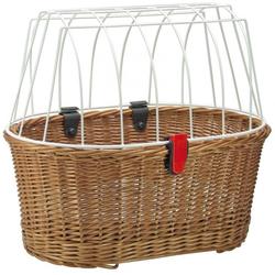 KlickFix Fahrradkorb Hundeshopper KLICKfix Doggy Basket braun, 45x52x3