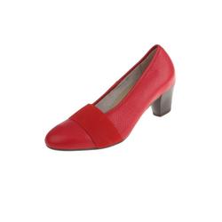 Natural Feet Janine Pumps aus echtem Hirschleder rot 36