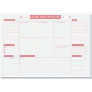 SIGEL HO507 Papier-Schreibunterlage A3 mit Wochenplan, To-Do-Liste, Block mit 30 Blatt - weiteres Design