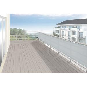 FLORACORD Balkonsichtschutz , BxH: 500x90 cm, silbergrau