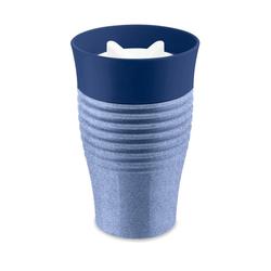 KOZIOL Thermobecher Thermobecher Safe To Go Organic Blue, 400 ml, Kunststoff