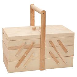 Nähkästchen aus Holz, 40 x 22 x 22 cm