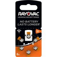 Rayovac Hörgerätebatterien Typ 13/PR48/1.45V/4606/Retail Zink-Luft orange 6 St.