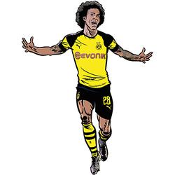Wandsticker BVB Comic Spieler Axel Witsel mehrfarbig