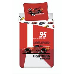 Kinderbettwäsche Lightning McQueen 95 Bettwäsche, Disney Cars 3, 135-140x200 cm, 100% Baumwolle