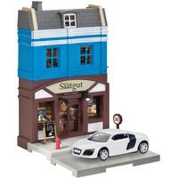 HERPA 800013 Fahrzeug City: Bäckerei mit Porsche zum Basteln, Spielen und als Geschenk, Mehrfarbig
