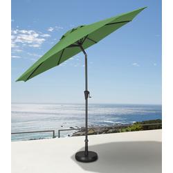 garten gut Ampelschirm, abknickbar, ohne Schirmständer grün Sonnenschirme -segel Gartenmöbel Gartendeko Ampelschirm