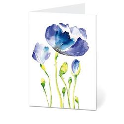 LUMA Grußkarte Blaue Blume DIN B6