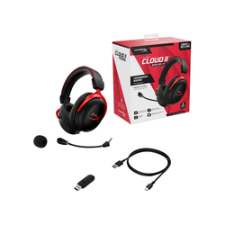HyperX Cloud II Wireless Gaming Headset Gaming-Headset (WLAN (WiFi)