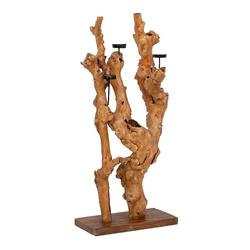 LebensWohnArt Kerzenhalter Abstrakter Kerzenhalter BOUGIE ca. H120cm Teakwurzel