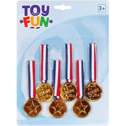 Toy Fun Medaillen am Band 6 Stück