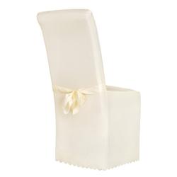 Stuhlhusse Stuhlhusse aus Polyester mit Schleife, tectake natur