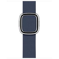 Apple Modern Buckle Lederarmband Tiefseeblau