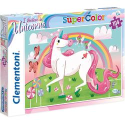 Clementoni® Puzzle Puzzle 104 Teile - Einhorn, Puzzleteile