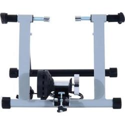HOMCOM Heimtrainer mit Magnetbremse silber 47,2 x 54,5 x 39,1 cm (LxBXH)   Rollentrainer Fahrrad Rennrad Trainingsgestell